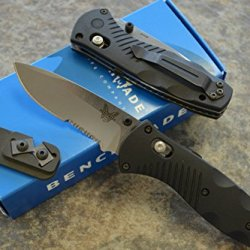 Benchmade 585S Mini Barrage Assisted Opening Knife With Free Benchmade Sharpener