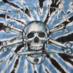 Calcutta Men'S Tie Dye Logo Short Sleeve Tee (Blue/Black Tie Dye, X-Large)