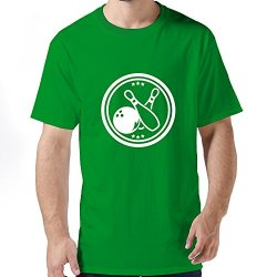 Funny Bowling Logo Mens T Shirt