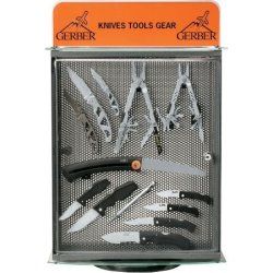 Gerber Knives 9289 Metal, Glass, & Plexiglass Counter Display Free W/ $600 Purchase Of Gerber Products