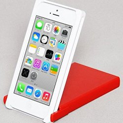 Trick Cover For Iphone 5 / 5S (White X Red) Plastic Case Cover Nunchaku Butterfly Knife Action