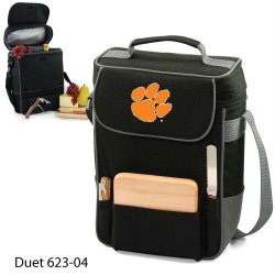 Ncaa Clemson Tigers Duet Insulated Wine And Cheese Tote With Team Logo