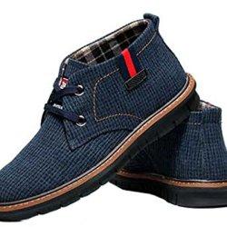 Mulinsen Men'S Plaid Cloth Casual Shoes(8D(M)Us,Blue)