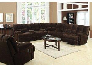 1PerfectChoice-3Pcs-Ahearn-Chocolate-Reclining-Sofa-Set-Sectional