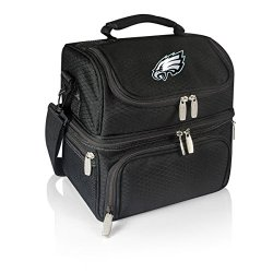 Nfl Philadelphia Eagles Pranzo Insulated Lunch Tote, Black, 12 X 11 X 8-Inch