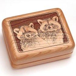 "3X4"" Box With Money Clip/Pocket Knife - Raccoons"
