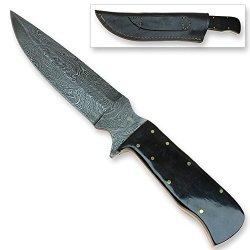 Guerilla Infantry Full Tang Damascus Steel Ultra Duty Buffalo Horn Knife