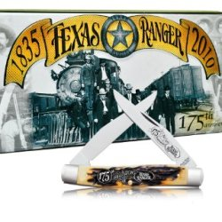 Schrade 877Trt Uncle Henry Muscrat Pocket Knife With Texas Rangers 175Th Anniversary Collector'S Tin