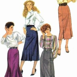 Misses Slim Fitting Gored Skirts Simplicity 6509 Vintage Sewing Pattern Size 6 - 8 Waist 23 - 24