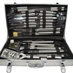 Bbq Tool Set - 24 Piece Stainless Steel Barbecue Set With Aluminum Case
