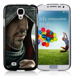 Diy Assassins Creed Desmond Miles Hood Face Knife Beard Fur Samsung Galaxy S4 I9500 Black Phone Case