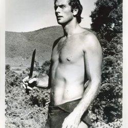 Ron Ely As Tarzan Publicity Photo Holding Knife