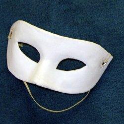 Paintable White Paper Mache Mardi Gras Eye Mask
