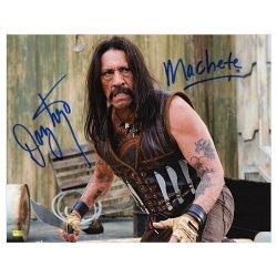 Danny Trejo Autographed 11X14 Machete Attack Photo With Machete Insc.