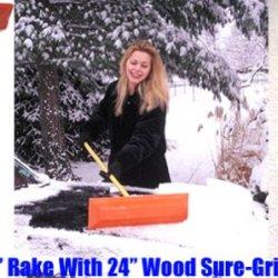 "Sno Rake - Model #101 - 12"" Rake/24"" Wood Handle"