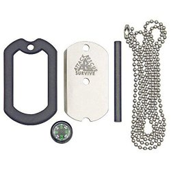 Dog Tag Dog Tag Stainless Steel Survival Knife Kit, No S/S Knife