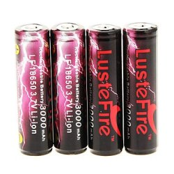Ggb- Lustefire 3000Mah 18650 Battery (4Pcs)
