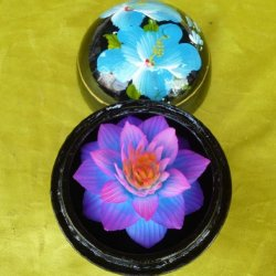 Flower Engraving Soap Size M Thai Handmade Products