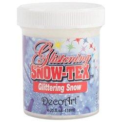 Decoart Das46-4 Glistening Snow-Tex, 4-Ounce