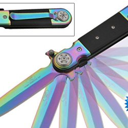 "8.5"" Rainbow And G10 Assisted Opening Pocket Knife"