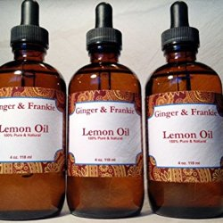 Lemon Oil 100% Pure Cold Pressed Premium Quality From Real Lemons - Extremely Strong - Make Your Home Naturally Clean And Chemical Free!!