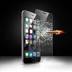"""Levin™ Iphone 6 Tempered Glass Screen Protector 2.5DPremium 0.33Mm Hd Clear Tempered Glass Screen Protector 4.7"""" With Anti-Scratch, Anti-Fingerprint, Bubble Free, Explosion-Proof And Pressure-Resistant Function (Iphone 6)(Display Screen Only)"""