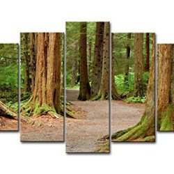 5 Panel Wall Art Painting Tongass National Forest Picture Prints On Canvas The Picture Landscape Pictures Oil For Home Modern Decoration Print Decor