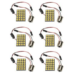 6 X N.R.G 1141 1156 1003 Ba15S Base 24 Led Directional Panel Light Bulb 10-30V 12V / 24V 360 Lumens - Cool White