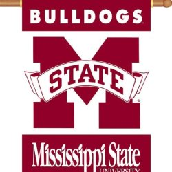 """Mississippi State Bulldogs 2-Sided 28"""" X 40"""" Banner W/ Pole Sleeve"""