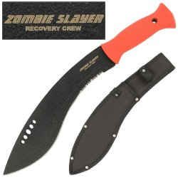 Zombie Slayer Recovery Crew Kukri Sword Knife Machete- Blood Red