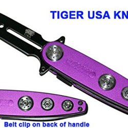 "7.25"" Assisted Opening Pocket Knife - ""Spinners"" Purple"