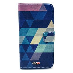 Bayke Brand / Samsung Galaxy Core Gt-I8260 I8262 Smart Phone Case Fashion Pu Leather Wallet Flip Protective Skin Case With Stand With Credit Card Slots & Holder For Samsung Galaxy Core Gt-I8260 I8262 (Beautiful Rhombus Diamond Pattern Design)