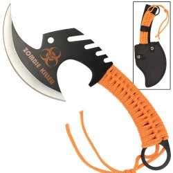 Zombie Killer Skullsplitter Throwing Axe - Orange