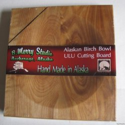 Alaskan Ulu Birch Wood Chopping Bowl Board