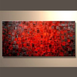 Ready To Hang Modern Contemporary Abstract Stretched Canvas Painting