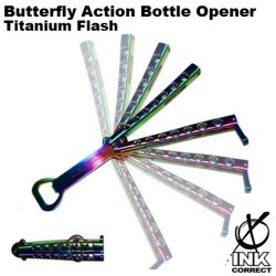 Butterfly Action Bottle Opener: Titanium Flash