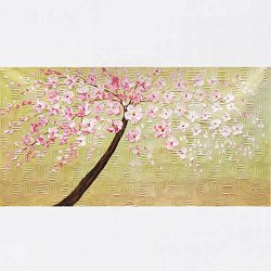 Xm Art-Canvas The Plum Blossom Palette Knife Landscape Oil Painting On Canvas Wall Art Deco Home Decoration(Unstretch And No Frame)