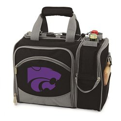 Kansas State Wildcats Malibu Insulated Picnic Shoulder Pack/Bag - Navy W/Embroidery