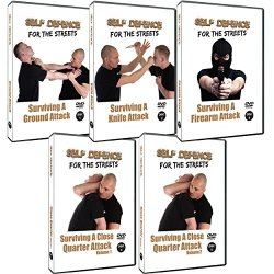 Self Defence For The Streets 5 Dvd Training Set , Learn How Survive A Ground Attack ,Knife Attack ,Firearm Attack & Close Quarter Attack