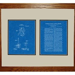 "Moulin Knife-Throwing Illusion Patent Art Blueprint Print In A Honey Red Oak Wood Frame (16"" X 20"")"