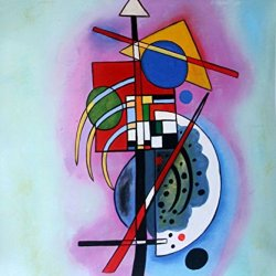 """Wassily Kandinsky_Hommage A Grohmann_Oil Painting On Canvas 20X24"""" Abstract Modern Wall Canvas Art Repro"""