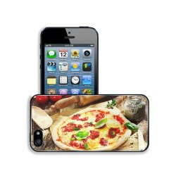 Pizza Dish Food Spices Tomatoes Cheese Dough Knife Fork Apple Iphone 5 / 5S Snap Cover Premium Leather Design Back Plate Case Customized Made To Order Support Ready 5 Inch (126Mm) X 2 3/8 Inch (61Mm) X 3/8 Inch (10Mm) Liil Iphone_5 5S Professional Case To