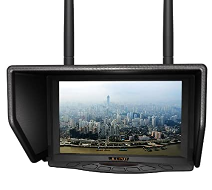 LILLIPUT 329DW Dual receiver 5.8Ghz 4 Bands 32Channels FPV Monitor for Fly Wireless Camera and For Big Helicopter with LP-E6 battery and charger works with FAT SHARK,DJI AND BOSCAM transmitter by LILLIPUT OFFICIAL SELLER :VIVITEQ