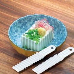 2 Pcs Creative Japanese Household Sanada Wavy Plastic Tofu Knife Ddstore