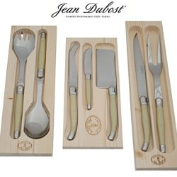 French Laguiole Dubost - Carving Cheese Salad Serving Sets - Pearl Color
