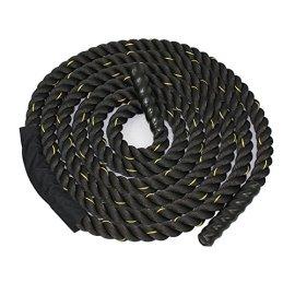 Zeny-Black-15-2-Width-Poly-Dacron-304050ft-Length-Battle-Rope-Workout-Training-Undulation-Rope-Fitness-Rope-Exercise