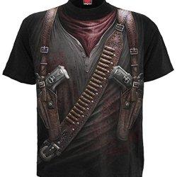 Spiral - Mens - Holster Wrap - Allover T-Shirt Black - L
