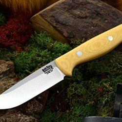 Bark River Gunny Hunter Fixed Blade Knife,3V Steel Blade,Antique Ivory Micarta Handle 07-026Mai