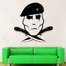 Wall Stickers Vinyl Decal Navy Seals Special Forces Knife Military Decor (Z1182I)