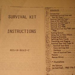 Booklet: Survival Tool Kit, Airmans, Mil-S-8642C